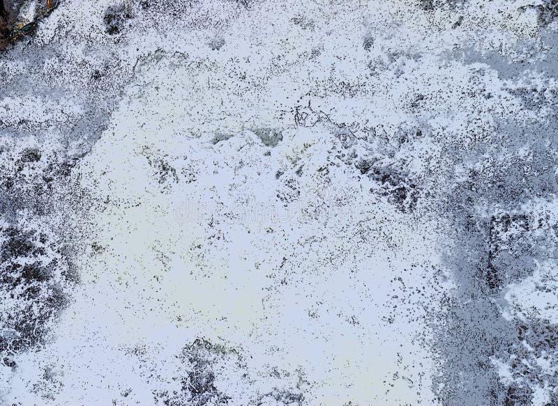 Abstrakter Hintergrund - unregelmäßige weiße Formen mit Schwarzem und Grey Hues - Wasserführung vektor abbildung