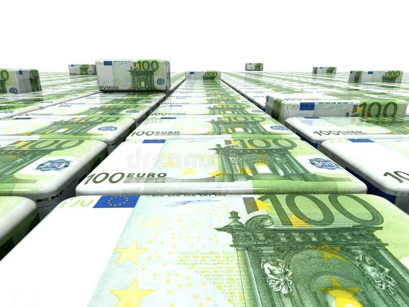 Abstrakter Hintergrund vom Euro vektor abbildung