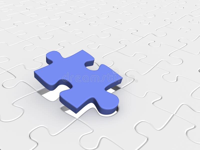 Abstrakter Hintergrund vom Puzzlespiel der Teile 3d vektor abbildung