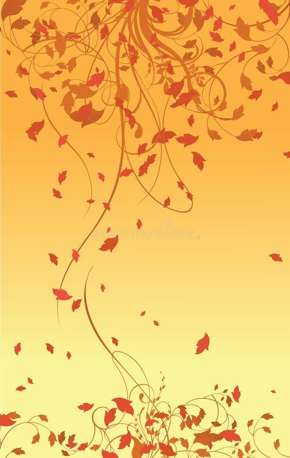 Abstrakter Hintergrund von Blumen stock abbildung