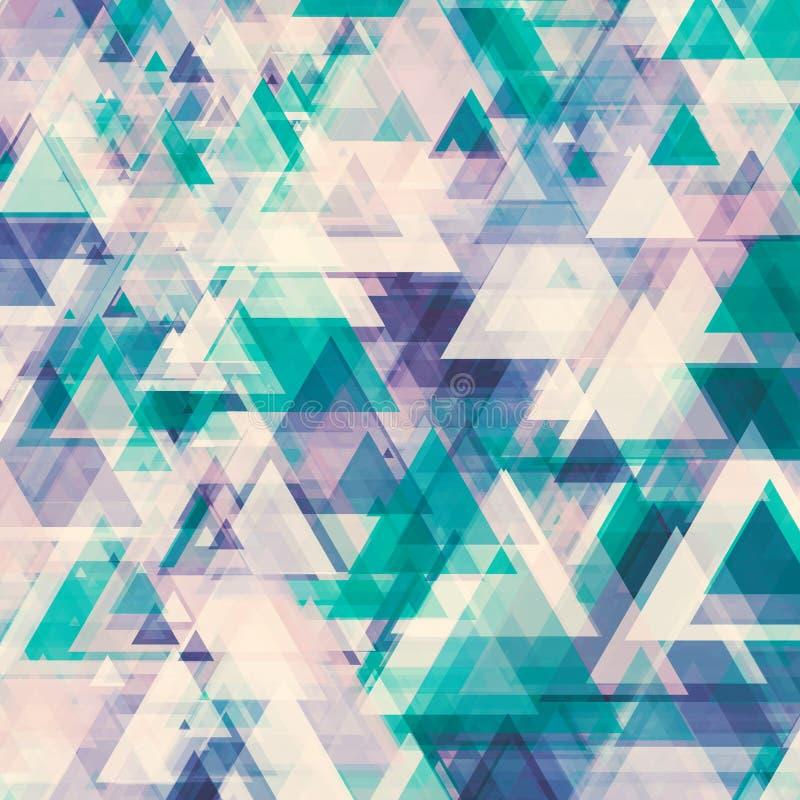 Abstrakter Hintergrund von den transparenten Dreiecken lizenzfreie stockfotos