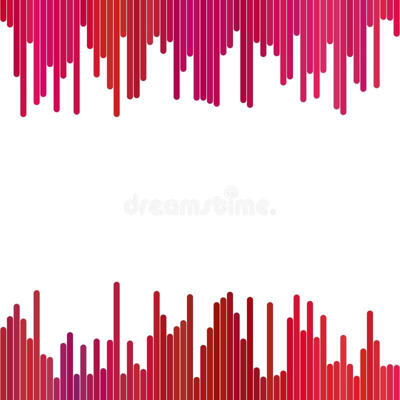 Abstrakter Hintergrund von den vertikalen Streifen in den roten Tönen - Vektorgraphik auf weißem Hintergrund vektor abbildung