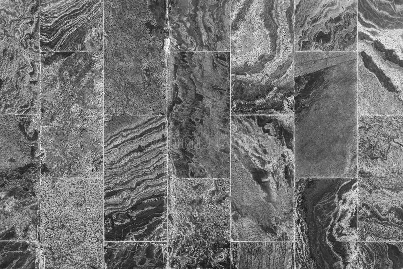 Abstrakter Hintergrund von der Schwarzweiss-Marmorbeschaffenheit und vom Muster Retro- und Weinlesewand kann verziert von Innen u stockbild