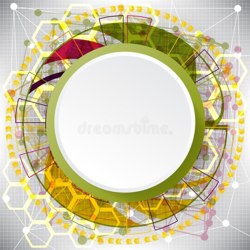 Abstrakter Hintergrund von komplexen Elementen auf dem Thema des Internets lizenzfreie abbildung