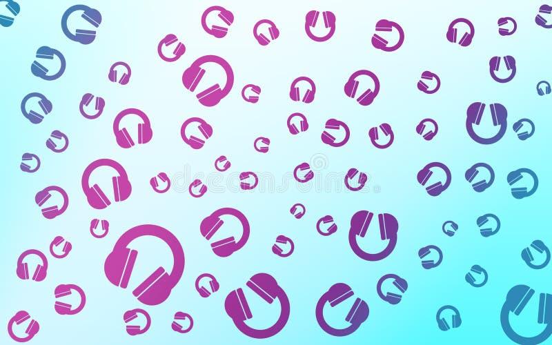 Abstrakter Hintergrund von Kopfhörern stockfoto