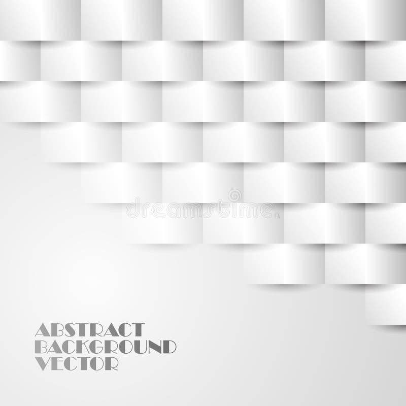 Abstrakter Hintergrund von Papierrechtecken mit Schatten Für Ihr Websitedesign lizenzfreie abbildung