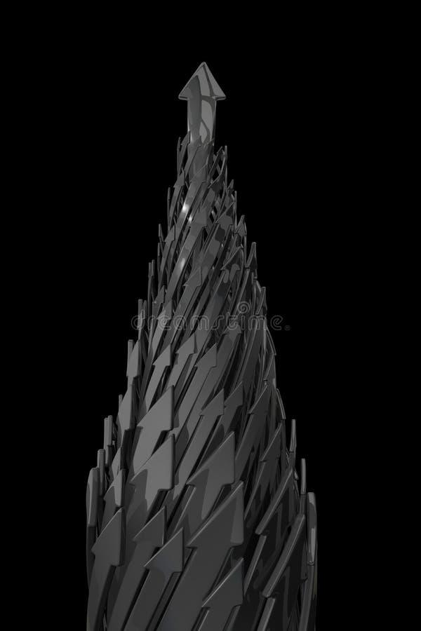 Abstrakter Hintergrund von Pfeilen 3d lizenzfreie abbildung
