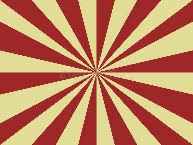 Abstrakter Hintergrund von roten und gelben Strahlen von der Mitte vektor abbildung