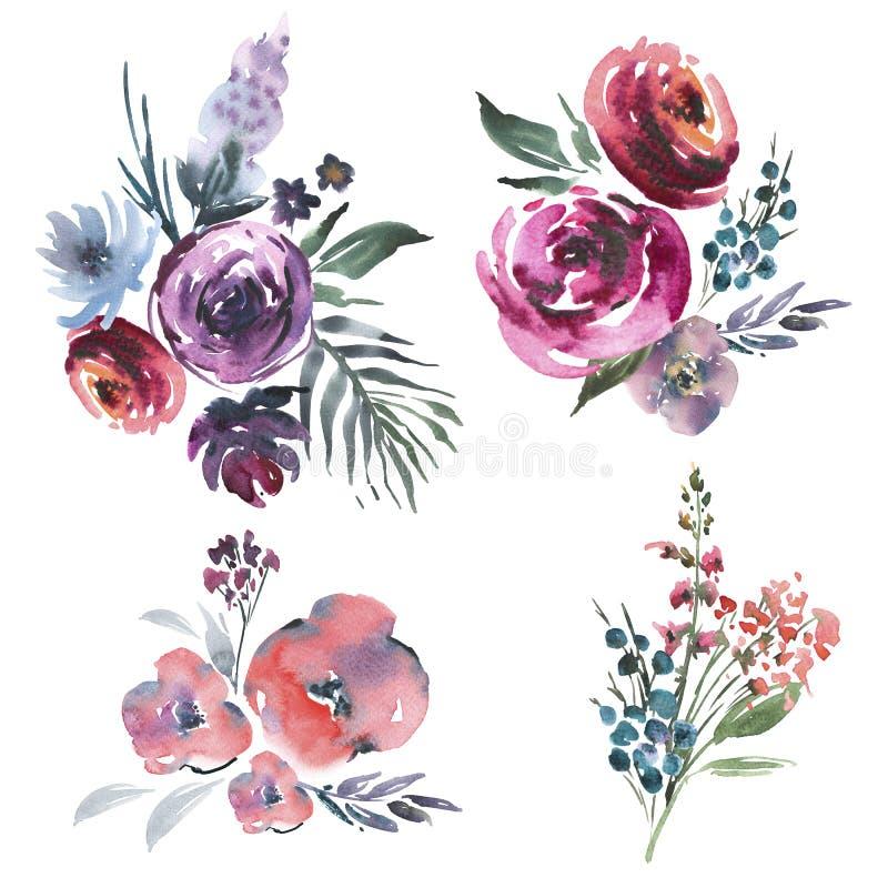 Abstrakter Hintergrund von verschiedenen Farben lizenzfreie abbildung