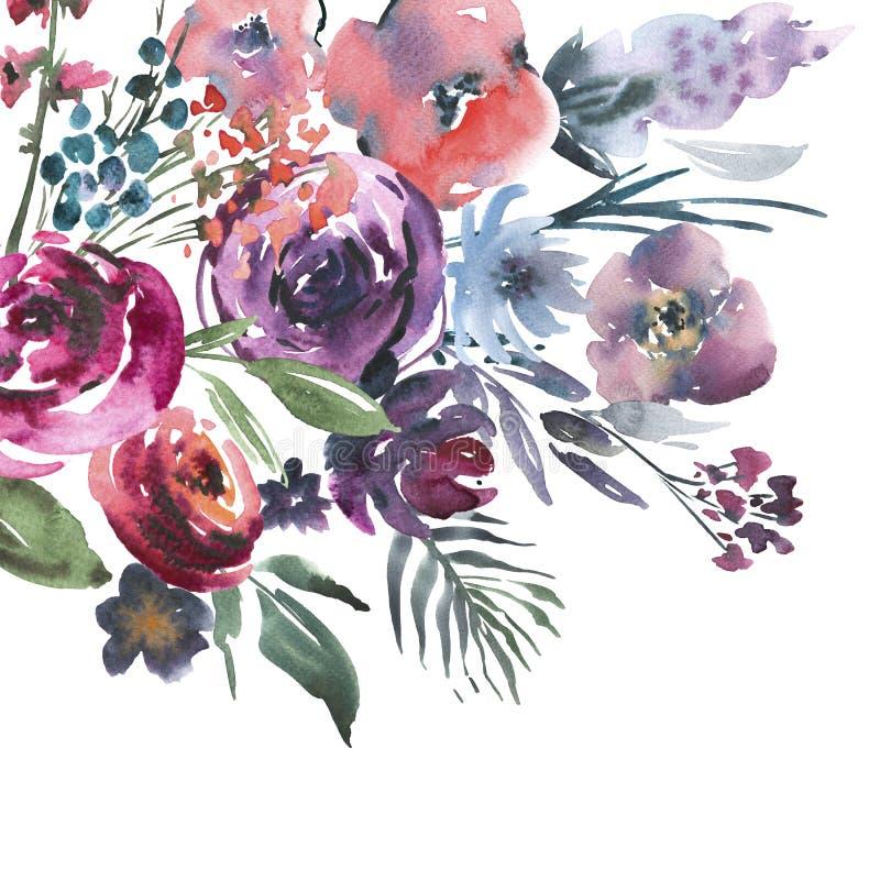 Abstrakter Hintergrund von verschiedenen Farben stock abbildung