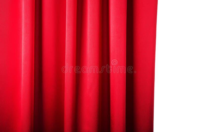 Abstrakter Hintergrund, Vorhang, drapiert rotes Gewebe. stockfotos