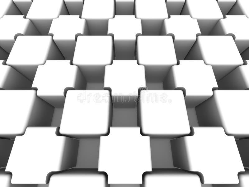 Abstrakter Hintergrund. Würfel vektor abbildung