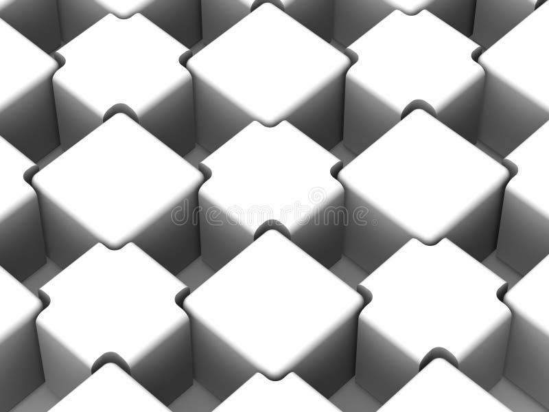 Abstrakter Hintergrund. Würfel lizenzfreie abbildung