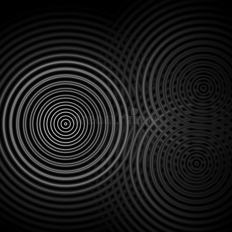 Abstrakter Hintergrund, weiße oszillierende Schallwellen lizenzfreie abbildung