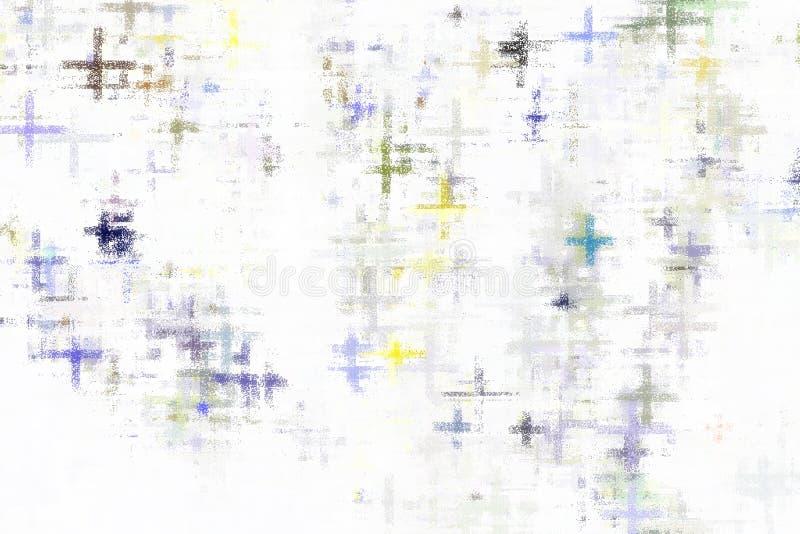 Abstrakter Hintergrund, Zusammenfassung bunt auf weißem Hintergrund, Dose mit für Hintergrund vektor abbildung