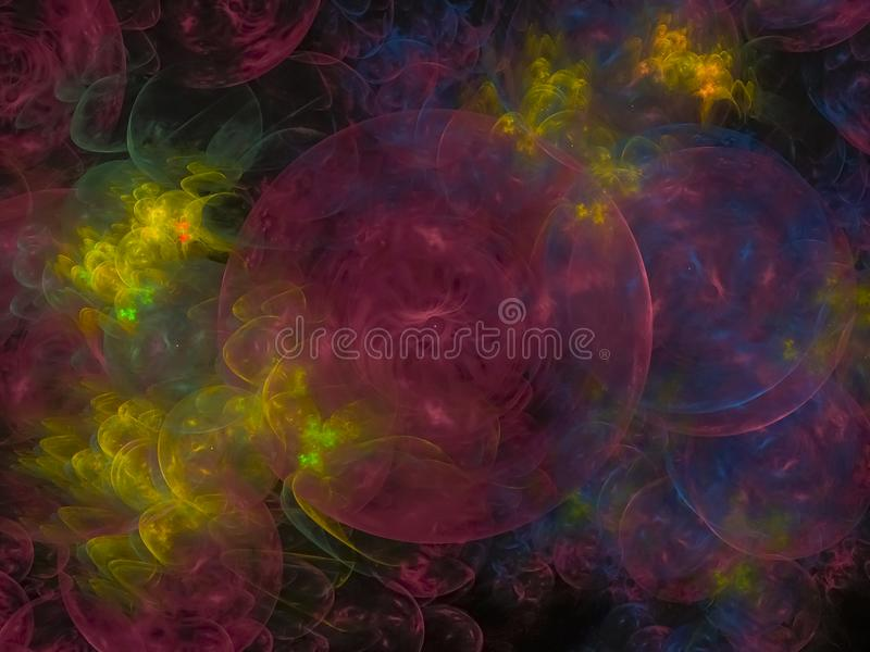 Abstrakter Hintergrundhimmel des Fractal, Ballillustrationsmuster kreativ, Muster, Grafik lizenzfreie abbildung