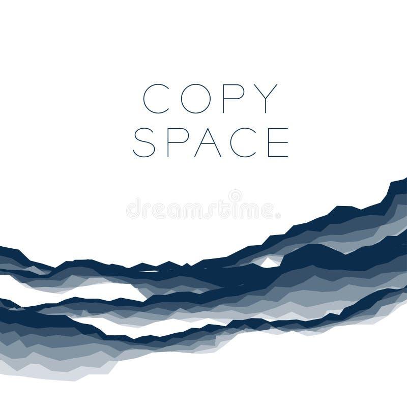 Abstrakter Hintergrundmarmor, Barke, Berg, dunkelblaue Schattenfarbe der Steinschicht, mit Raum lizenzfreie abbildung