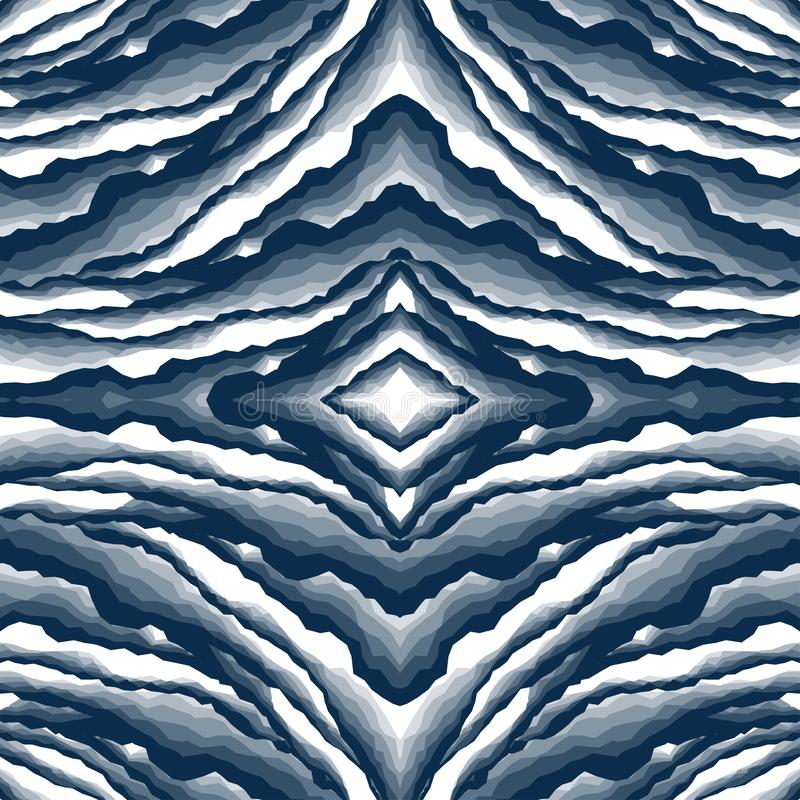 Abstrakter Hintergrundmarmor, Barke, Berg, dunkelblauer Schatten der Steinschicht vektor abbildung