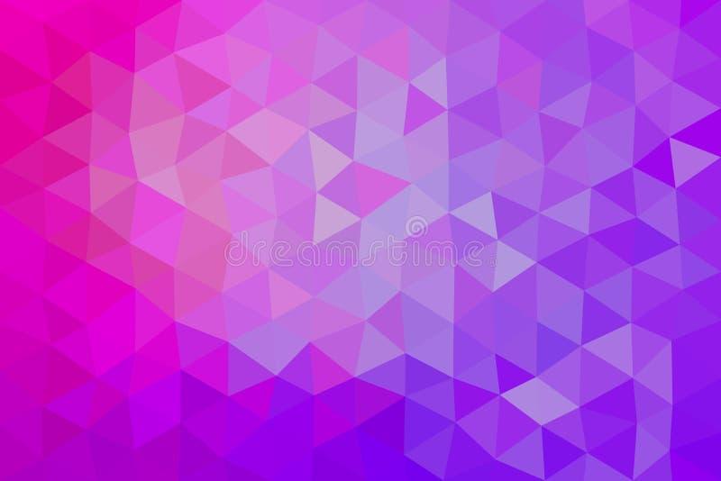 Abstrakter Hintergrundvektor der purpurroten rosa Dreiecke lizenzfreie abbildung