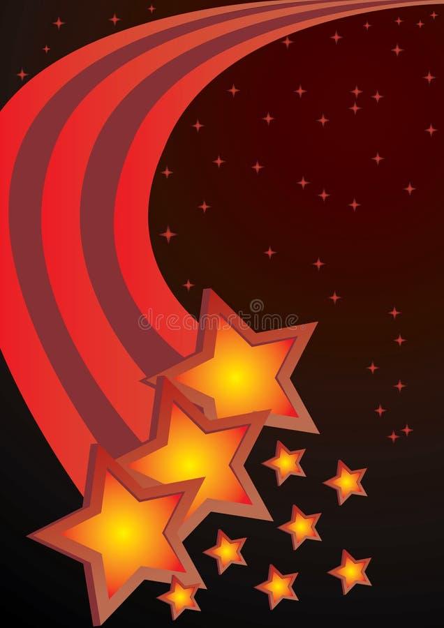 Abstrakter Hintergrundvektor der Sterne vektor abbildung