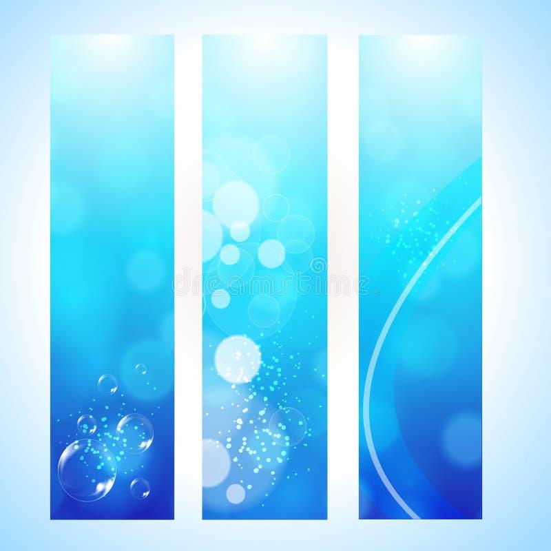 Abstrakter Hintergrundvorsatz mit Wasserwelle stock abbildung