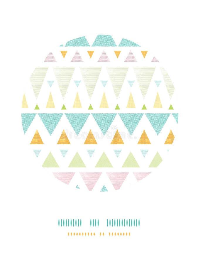Abstrakter ikat Dreieckstreifen-Kreisdekor vektor abbildung