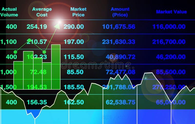 Abstrakter Illustrationshintergrund der erfolgreichen Investition mit Börseindexwachstum lizenzfreies stockbild