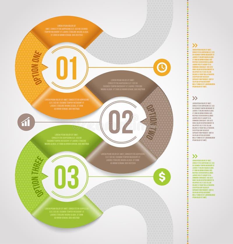 Abstrakter infographics Schablonenentwurf stock abbildung