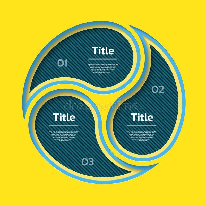 Abstrakter infographics Schnitt von der Papierschablone Auch im corel abgehobenen Betrag kann für Arbeitsflussplan, Diagramm, Ges lizenzfreie abbildung
