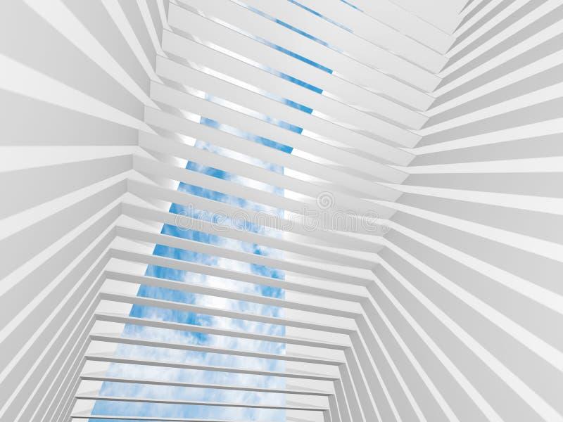 Abstrakter Innenraumhintergrund des Weiß 3d stock abbildung