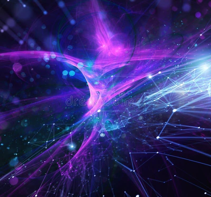 Abstrakter Internetanschlussnetzhintergrund mit Bewegungseffekten stockfotos