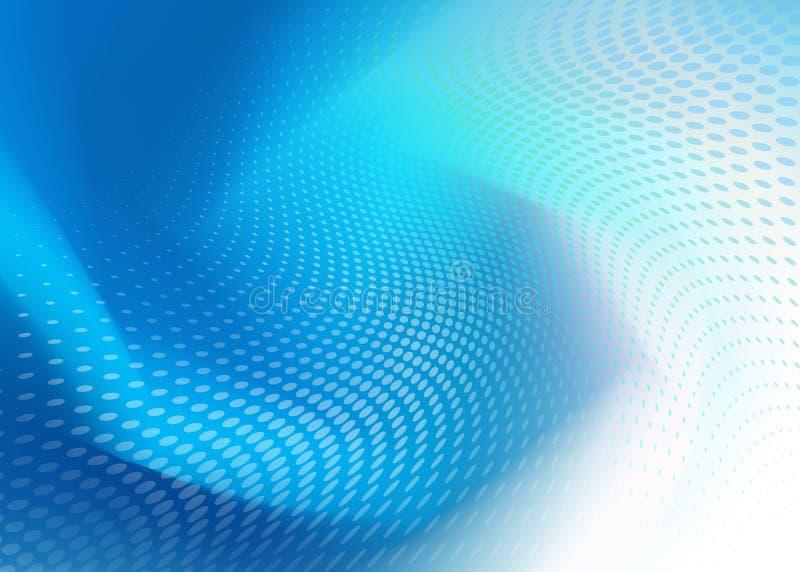 Abstrakter kühler blauer Dot Swirl Design Background stock abbildung