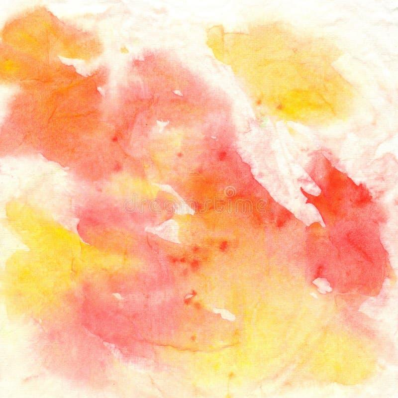 Abstrakter künstlerischer Hintergrund, der durch Flecken sich bildet stock abbildung