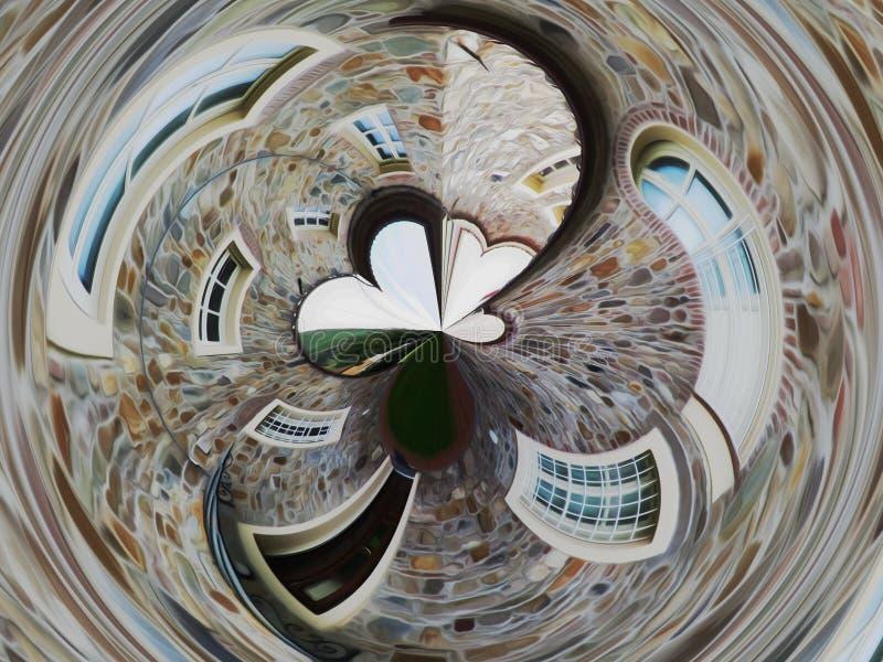 Abstrakter künstlerischer Hintergrund des ländlichen Hauses in der toskanischen Landschaft lizenzfreies stockfoto