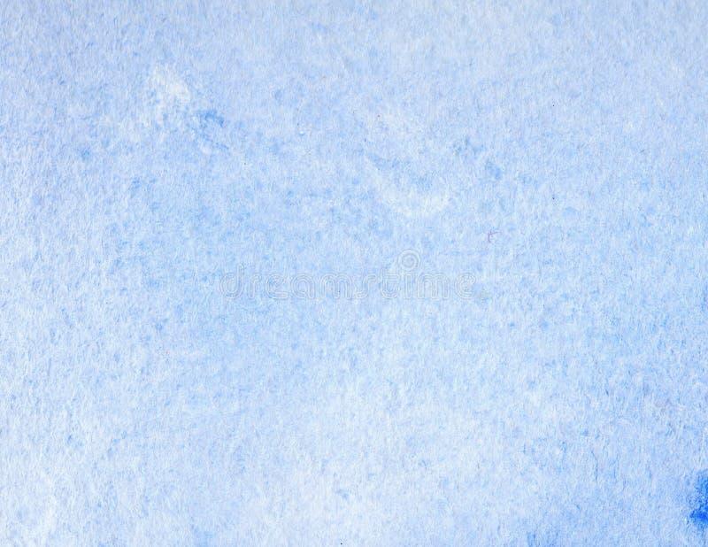 Abstrakter kreativer Watercolour malte Hintergrund mit blauen Wäscheschichten Weicher Himmel und Meer, Eis lizenzfreie stockbilder