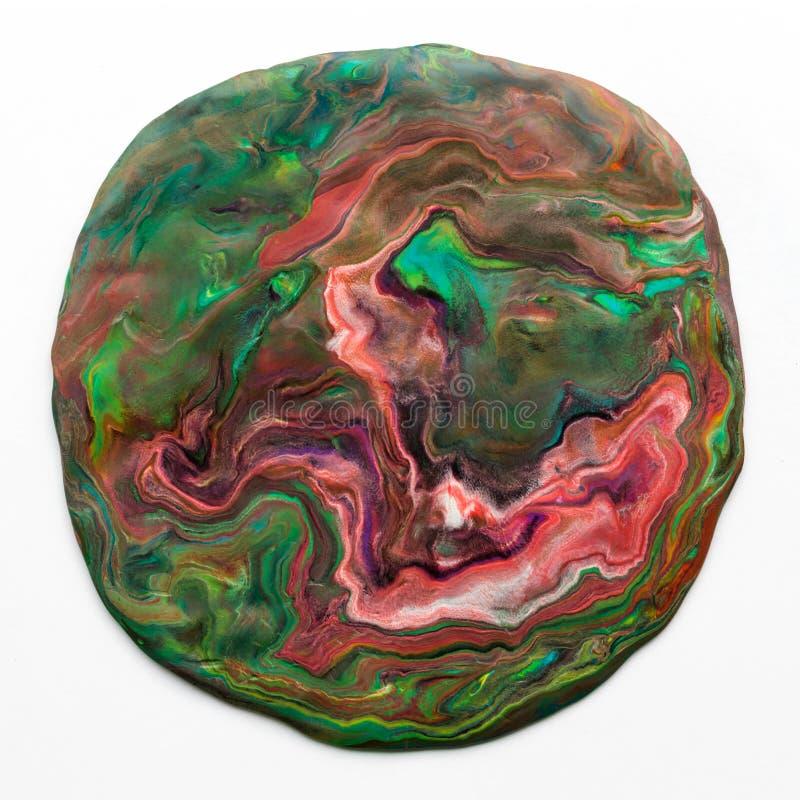 Abstrakter Kreis, bunt, Plasticine, Spielteig lizenzfreies stockfoto