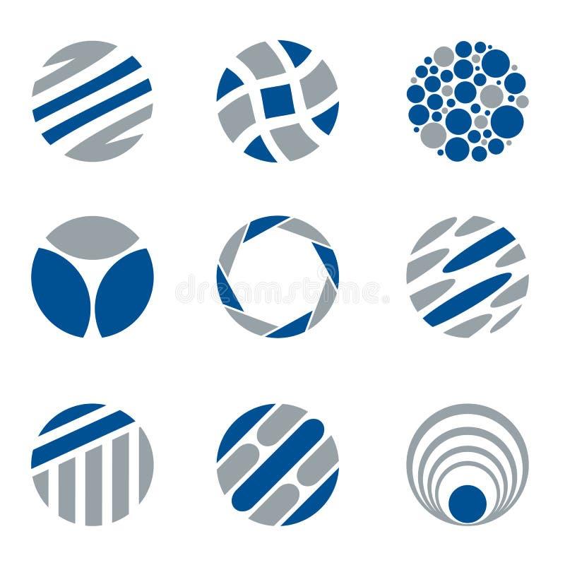 Abstrakter Kreis-Logo And Design Elements lizenzfreie abbildung