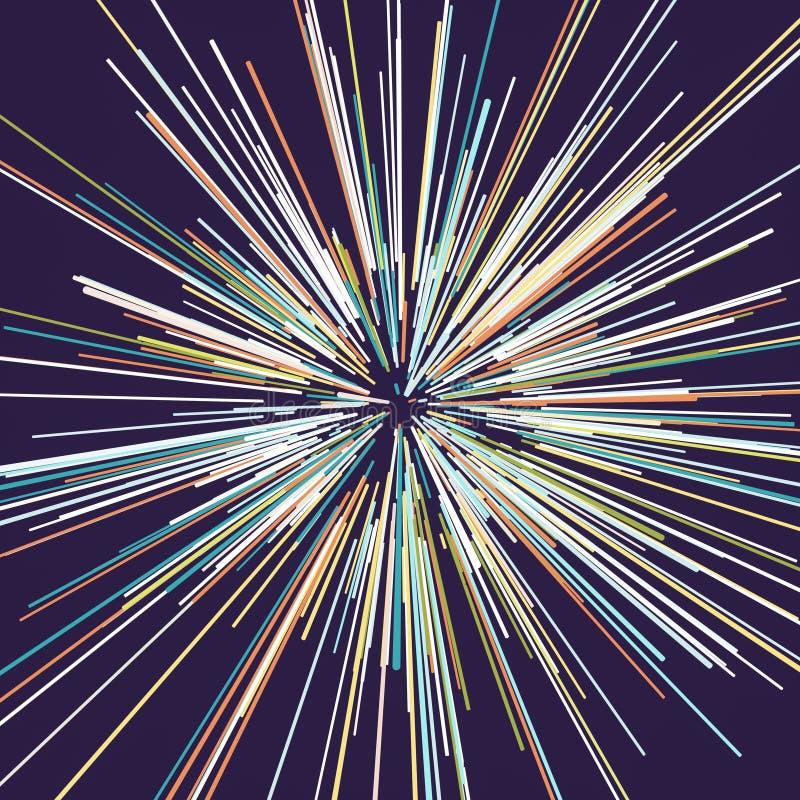 Abstrakter kreisf?rmiger geometrischer Hintergrund lizenzfreie stockfotografie