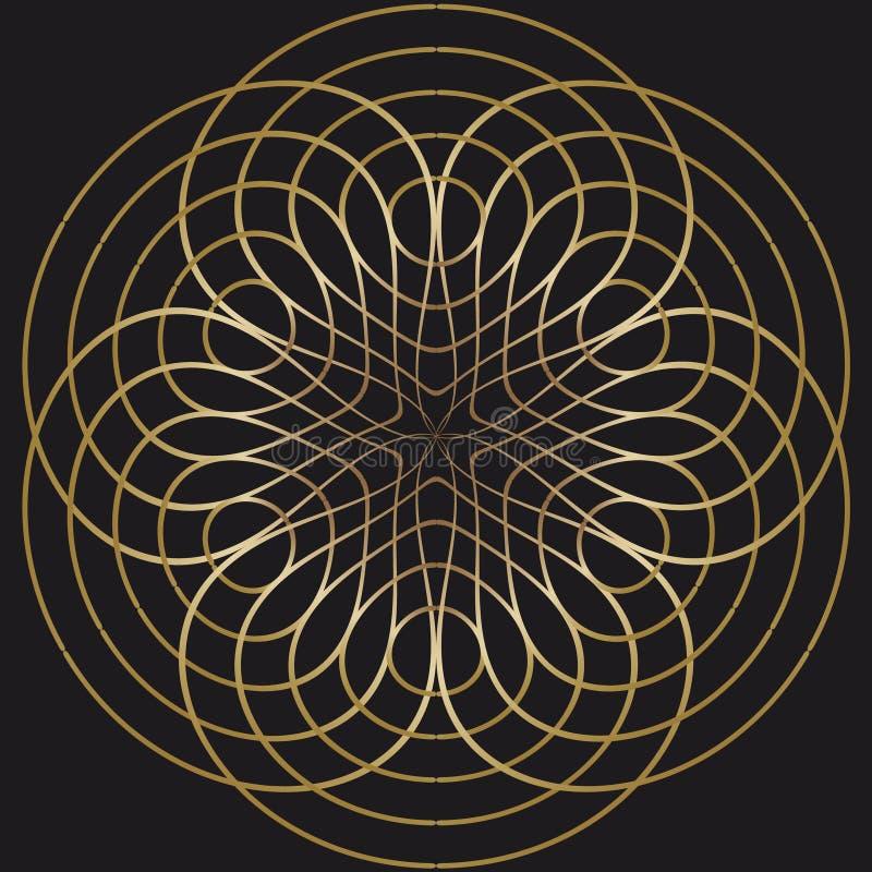 Abstrakter Kreisgoldhintergrund vektor abbildung