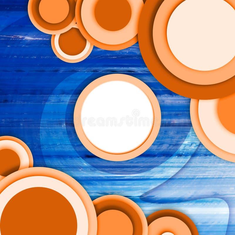 Abstrakter Kreishintergrund lizenzfreie abbildung