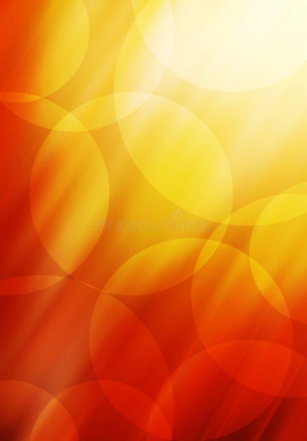 Abstrakter Kreishintergrund in den roten und orange Tönen stock abbildung