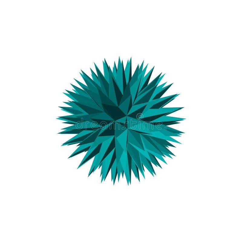 Abstrakter Kristall 3D Getrennt auf weißem Hintergrund Vektor illustra stock abbildung