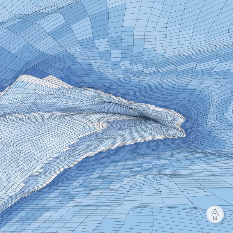 Abstrakter Landschaftshintergrund Mosaikvektor stock abbildung