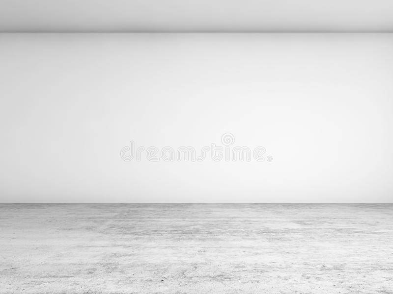 Abstrakter leerer Innenhintergrund, Vorderansicht lizenzfreie abbildung