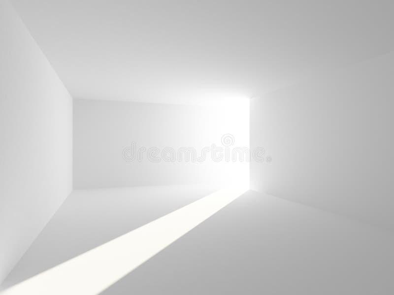 Abstrakter leerer Reinrauminnenraum mit Licht vektor abbildung