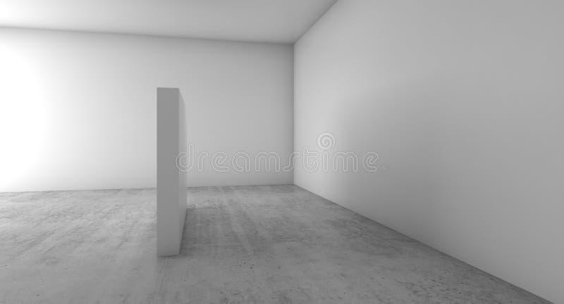 Abstrakter leerer weißer Innenhintergrund, Wände vektor abbildung
