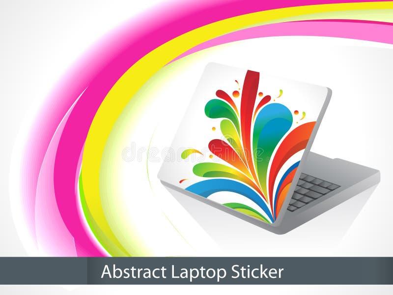 Abstrakter leptop Aufkleber vektor abbildung