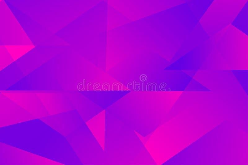 Abstrakter leuchtender Dreiecküberlagerungs-Vektorhintergrund stockbilder