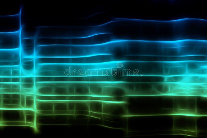 Abstrakter leuchtender Hintergrund lizenzfreie abbildung