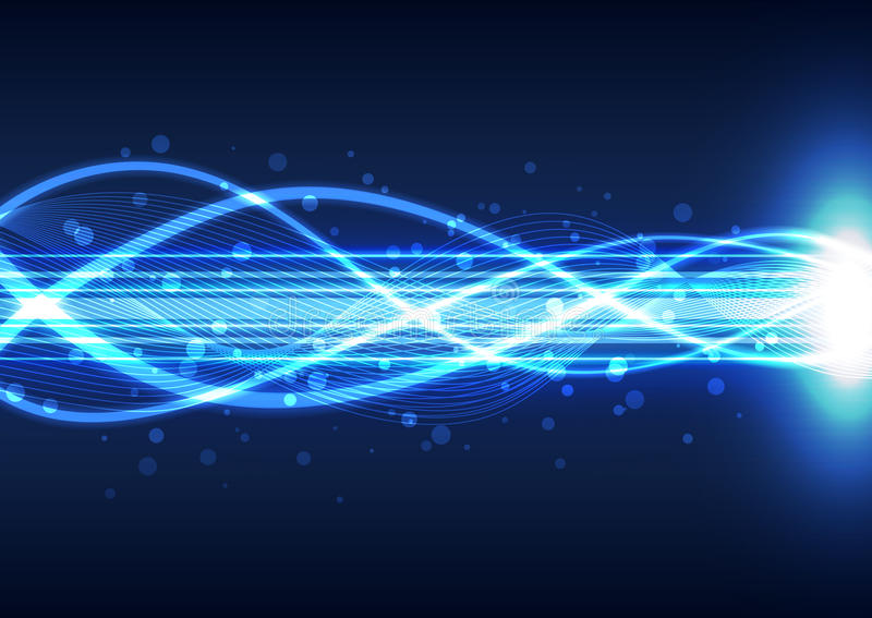Abstrakter Lichtenergietechnologiehintergrund, Vektorillustration stock abbildung